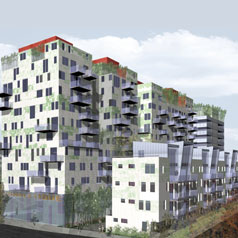 Perspective1-Construction-promoteur-architecte-ZAC-Euralille-Lille-Bureau-Logement-Commerce-Atela-Architectes